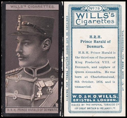 1908 Wills European Royalty #078