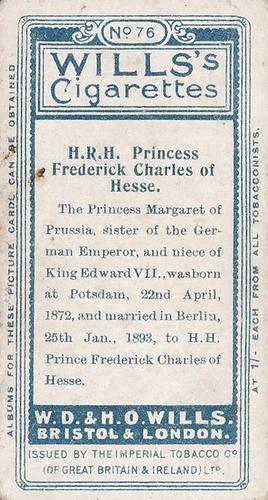 1908 Wills European Royalty #076 (2)