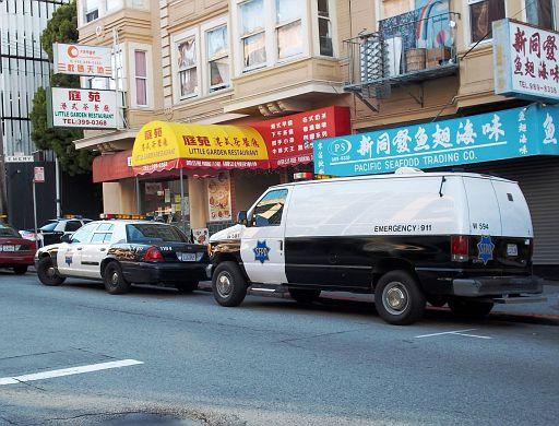 CA - San Francisco Police Ford van