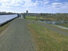Kreuzung des Kanals mit der tiefer verlaufenden Weser