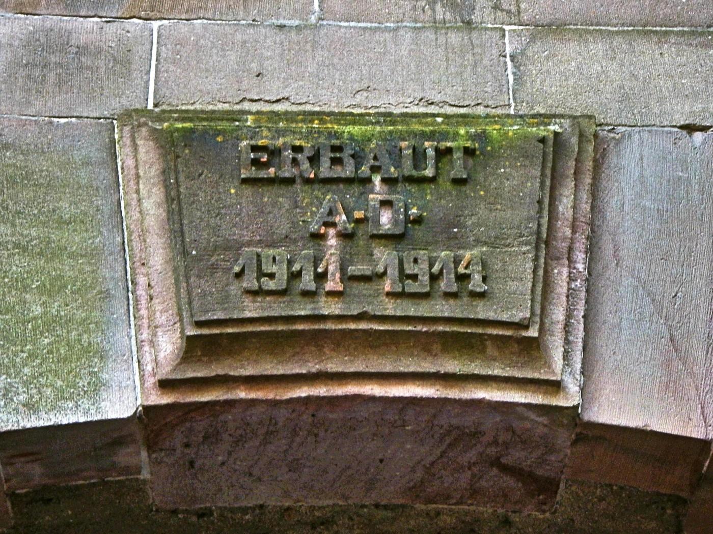Erbaut 1911 - 1914