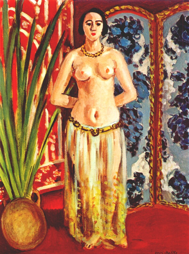 Matisse odalisque nude with lifted arms