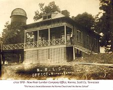 ca 1910, the N. R. L. Co. Office -Ova Lowe house- at Norma.