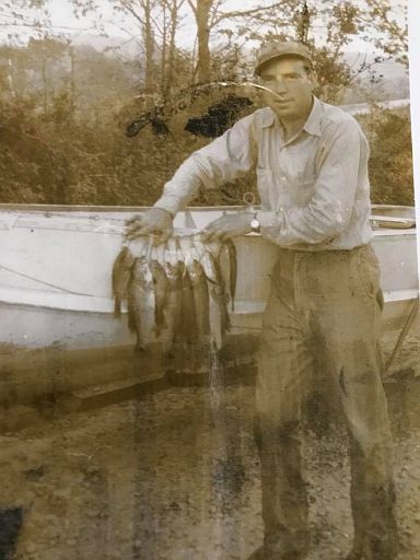 Elwood Sharp and a load of fish