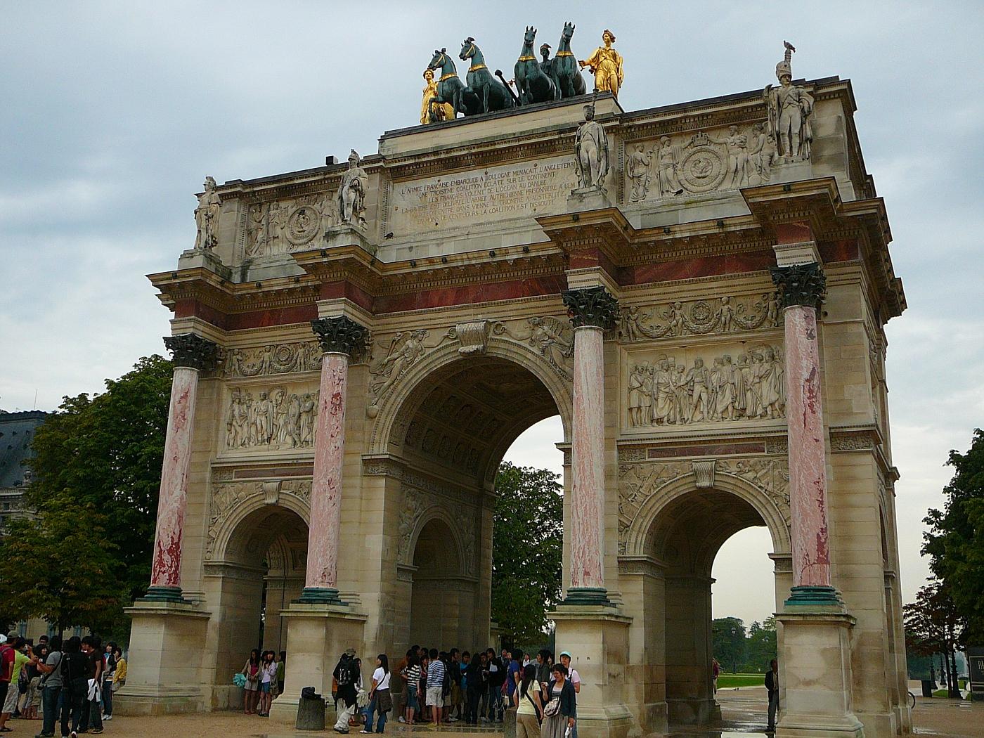 Triumph Arch Louvre Museum