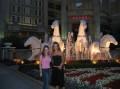 Aleksandra & I in front of pretty horses