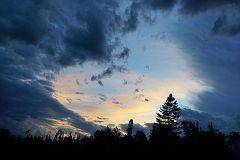 Sunset sky over Gunflint Trail