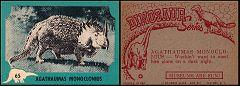 1961 Nu-Cards Dinosaur Series #65