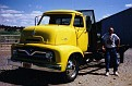 1955 Ford COE and me, Prineville, OR