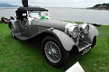 1938 Jaguar SS100 Roadster front three quarter view