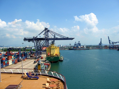 Holland's cheap berth in a container ship port.