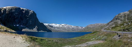 Norwegian landscape with a lake