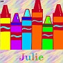 Crayons at schoolJulie