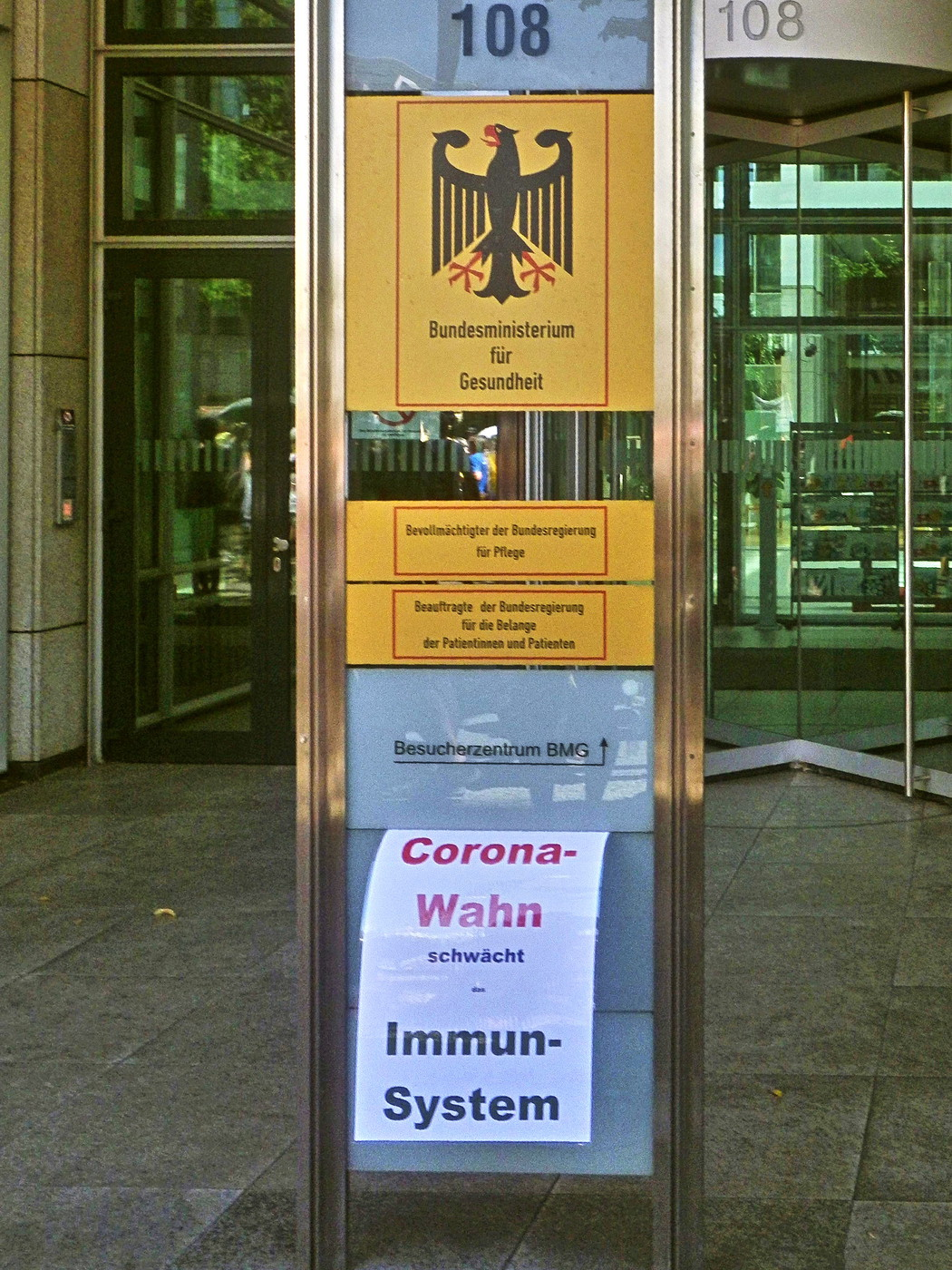 An das Bundesministerium für Gesundheit: Corona-Wahn schwächt das Immunsystem!