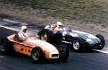 Vukie & Herman at the '55 Indy,just before their crash.
