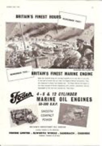 dunkirk finest hour marine oil engine 1954