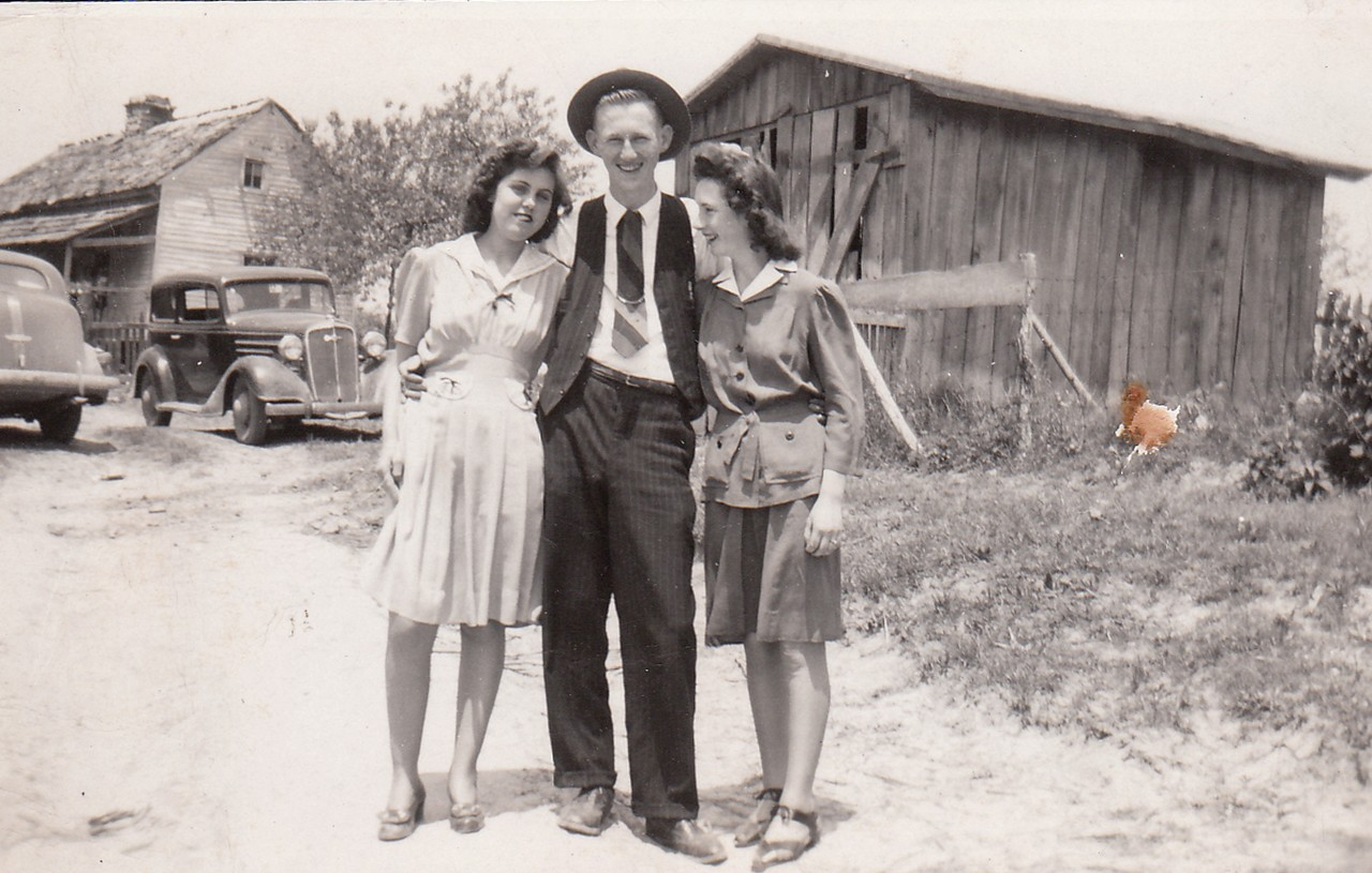 Nina Anderson,  John England and Mildred Foust