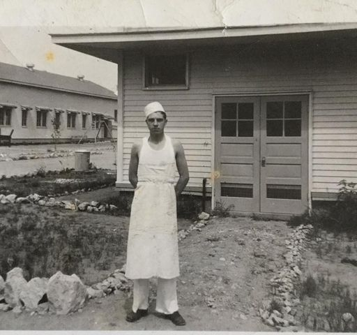 Elwood Sharp, Army Cook at Ft  Riley KS during WWll