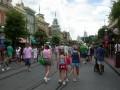 The girls head down Main Street