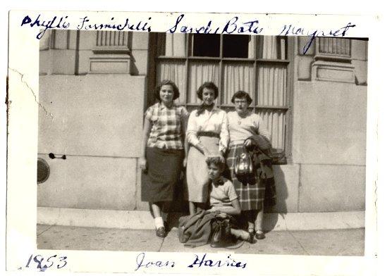 Phyllis,Sandie,Margaret & JoanHarries 1953