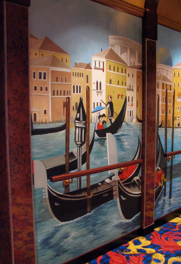 Norwegian Gem Hallway art to Stardust Theater