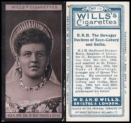 1908 Wills European Royalty #019