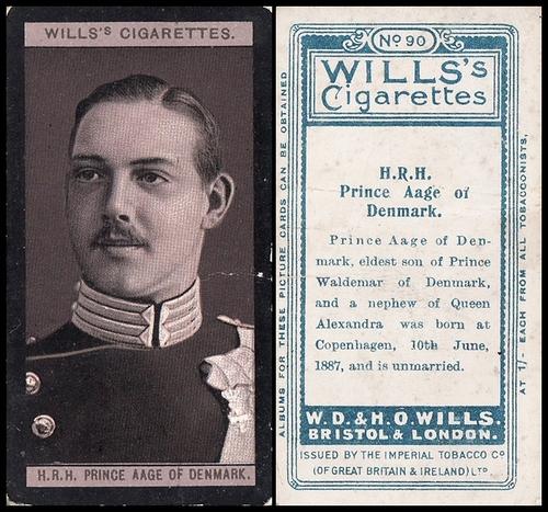 1908 Wills European Royalty #090