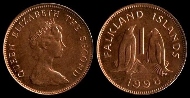 Falkland Islands 1998 cent