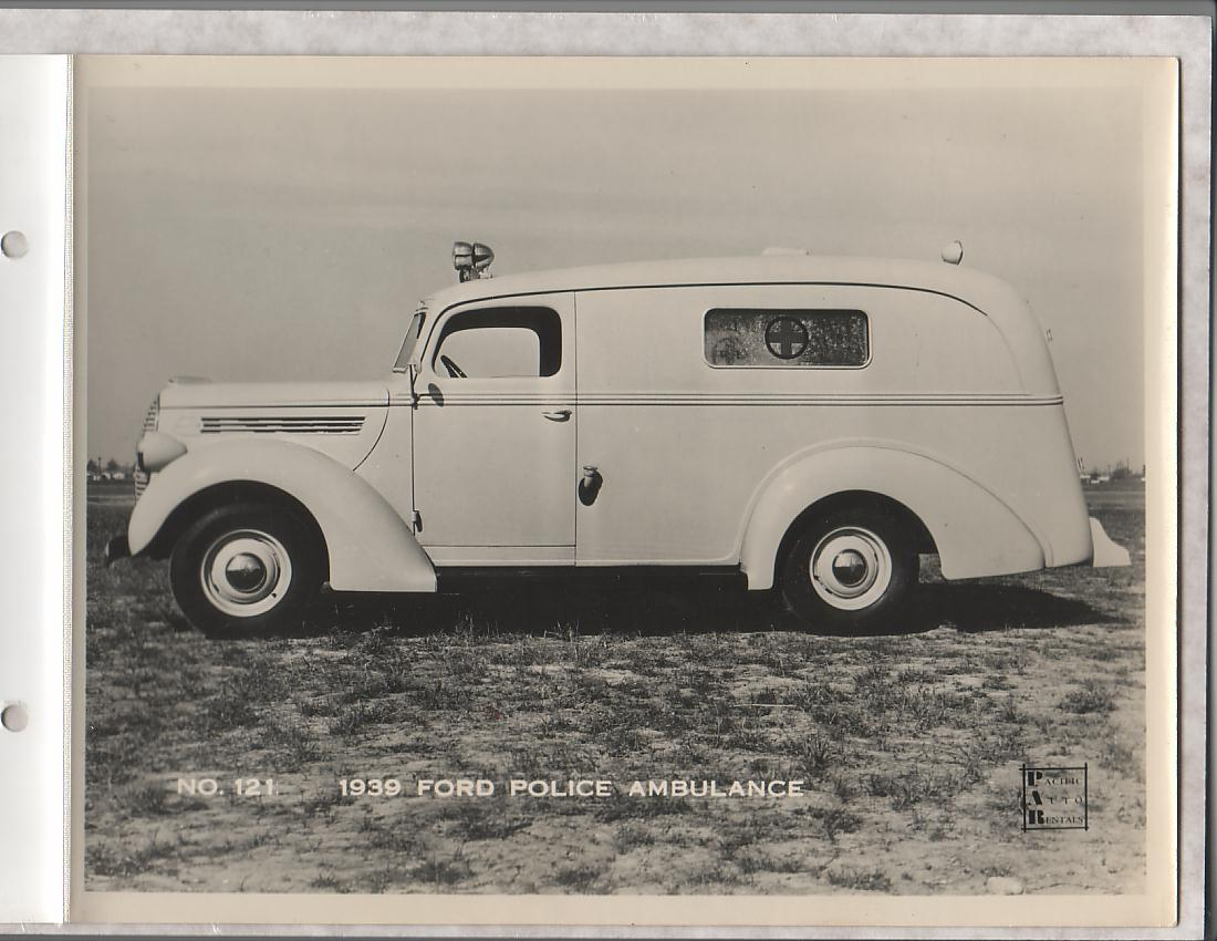 Misc - Manufacturer's photo of 1939 Ford Police Ambulance