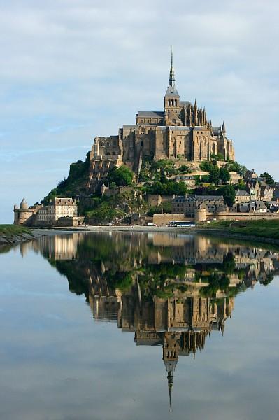 Mont St-Michel across a tidal basin