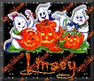3 Ghosts & pumpkinLinsey
