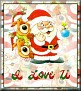 Santa with friendsTaI Love U