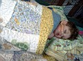 Aidan with his quilt
